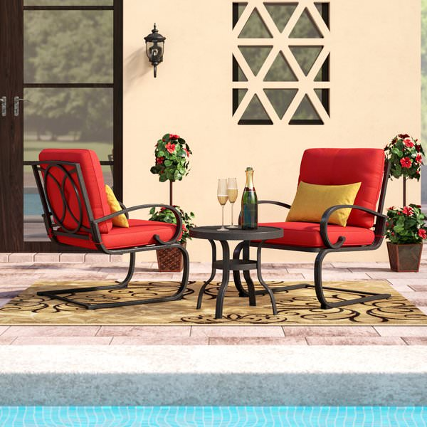 Product Image Cloud Mountain Bistro Table Set Cafe Furniture Seat, Wrought  Iron Outdoor Conversation Set, Garden