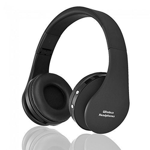 Hisonic HS8252 Foldable Noise Cancelling Wireless Stereo Bluetooth Headphones with Microphone (Black)