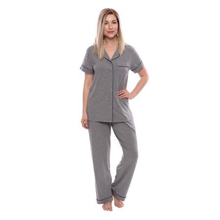 e791393d84 Texeresilk - Texere Women s Jersey Short Sleeve PJs - Sleepwear Gift (Classic  Slumber) - Walmart.com