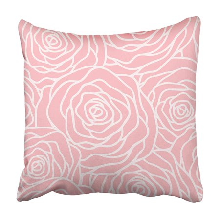 USART Flower with Outline Roses Beautiful Floral Packaging Subtle Simple Lace Petal Large Pillowcase 18x18 inch