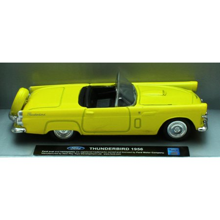 1:43 Scale Die-Cast Yellow 1956 Ford Thunderbird Convertible