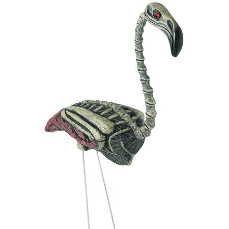 Fun Express - Flamingo Zombie for Halloween - Home Decor - Decorative Accessories - Home Accents - Halloween - 1 Piece](Zombie Flamingo)