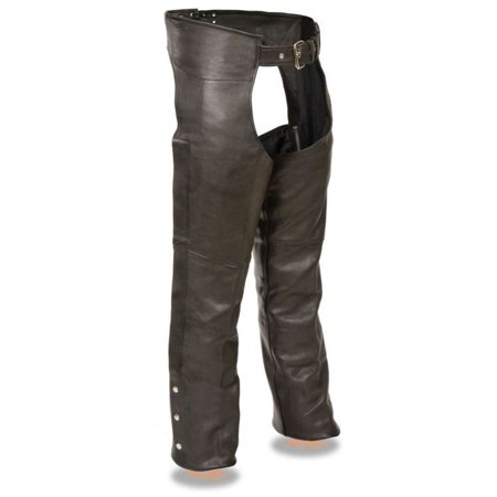 Milwaukee Leather Men's Fully Lined Naked Cowhide Chaps  Black](Naked Suit)