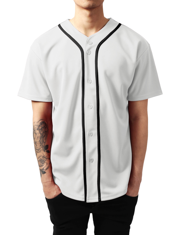 Ma Croix Mens Baseball Jersey Button Shirt Active Sportswear