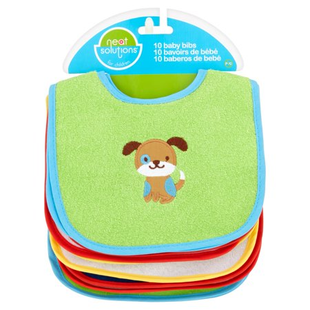 Neat Solutions Baby Bibs, 10 count