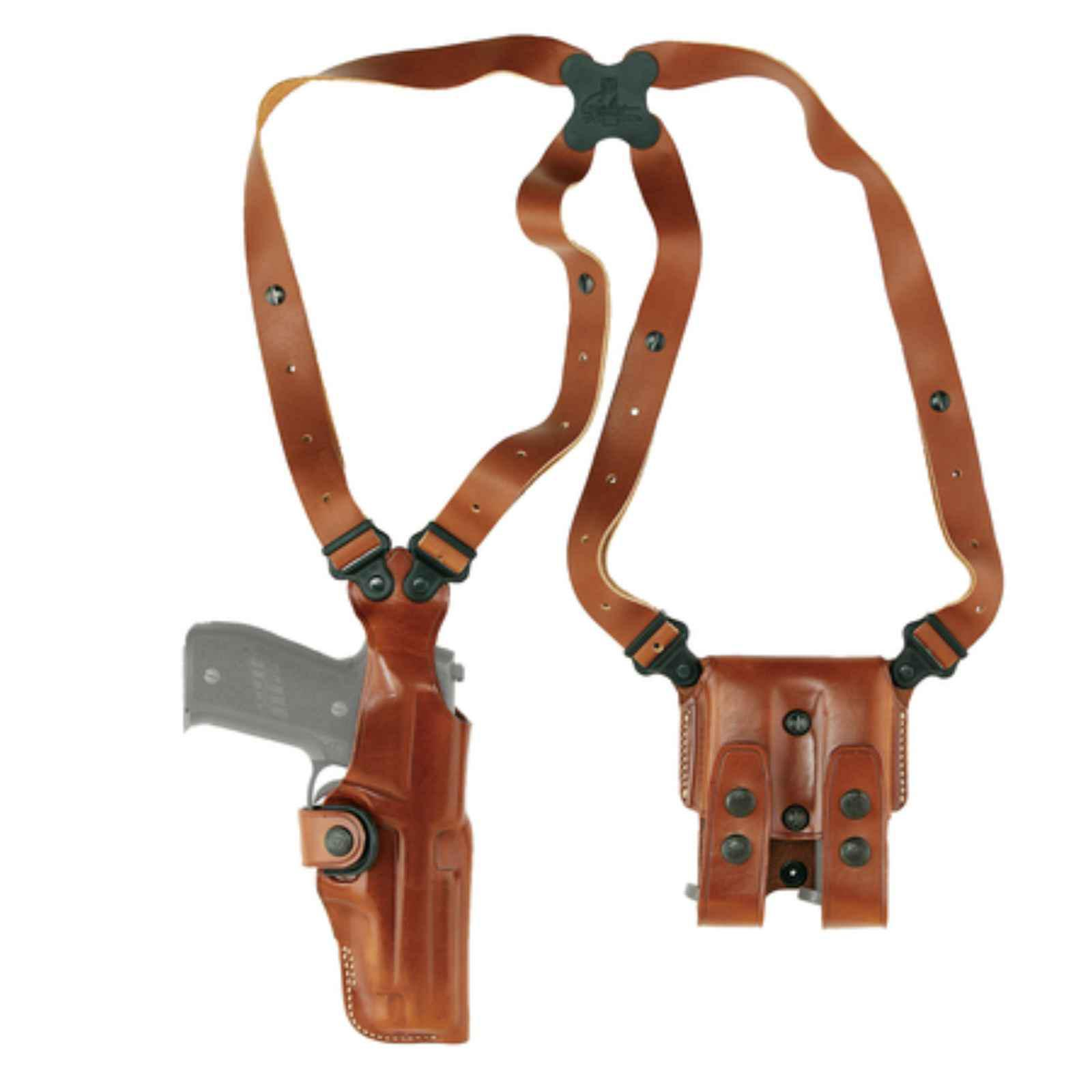 Galco VHS118 Vertical Shoulder 118 Adjustable, Tan Leather by Galco