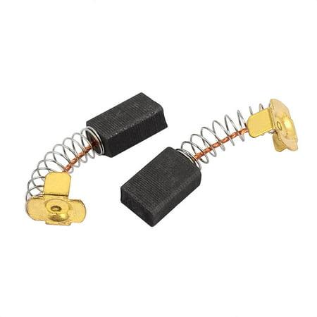 1 Pairs Electric Drill Motor Rotary Power Tool Carbon Brush 6 x 10 x 15mm Black (Groom Rotary Motor)