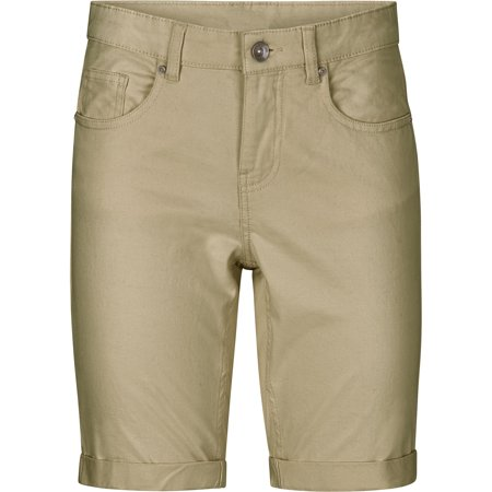 Ellos Plus Size Stretch Twill Bermuda Shorts