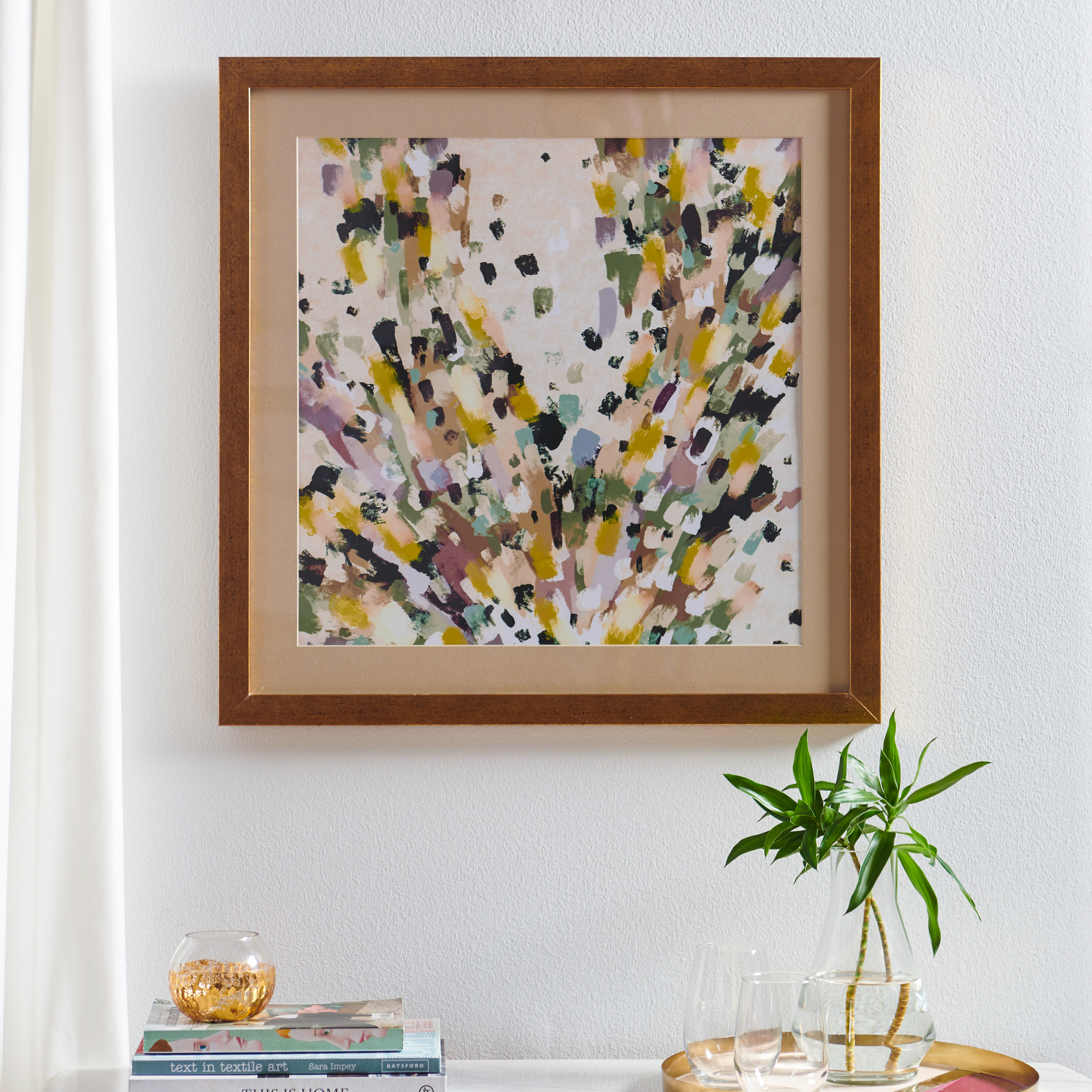 MoDRN Glam Multicolored Brush Strokes Wall Art