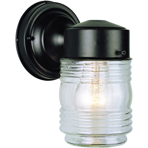"BelAire Jelly Jar 4"" Outdoor Wall Light, Black"
