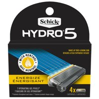 Schick Hydro 5 Sense Energize Men's Razor Blade Refills, 4 Ct