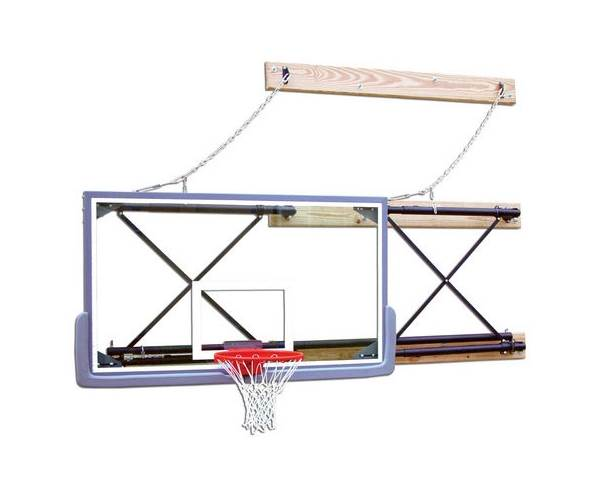 Side Fold Wall Mount Adjustable Rectangular Backboard Mounting (4 6 ft.) by Gared Holdings