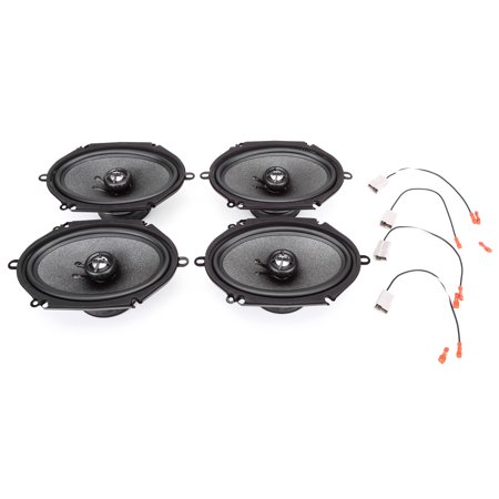 Ford Van Mileage (1992-2016 Ford Econoline Full Size Van Complete Factory Replacement Speaker Package by Skar)