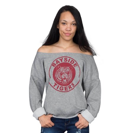 Saved by the Bell Kelly Kapowski Bayside Off the Shoulder Gray Juniors