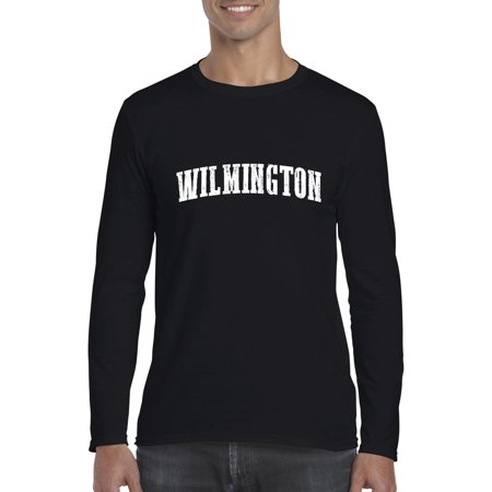 Artix Wilmington NC North Carolina Flag Charlotte Map 49ers Home of University of NC UNC Softsyle Long Sleeve Men's T-Shirt Tee (Costume Shops In Charlotte Nc)