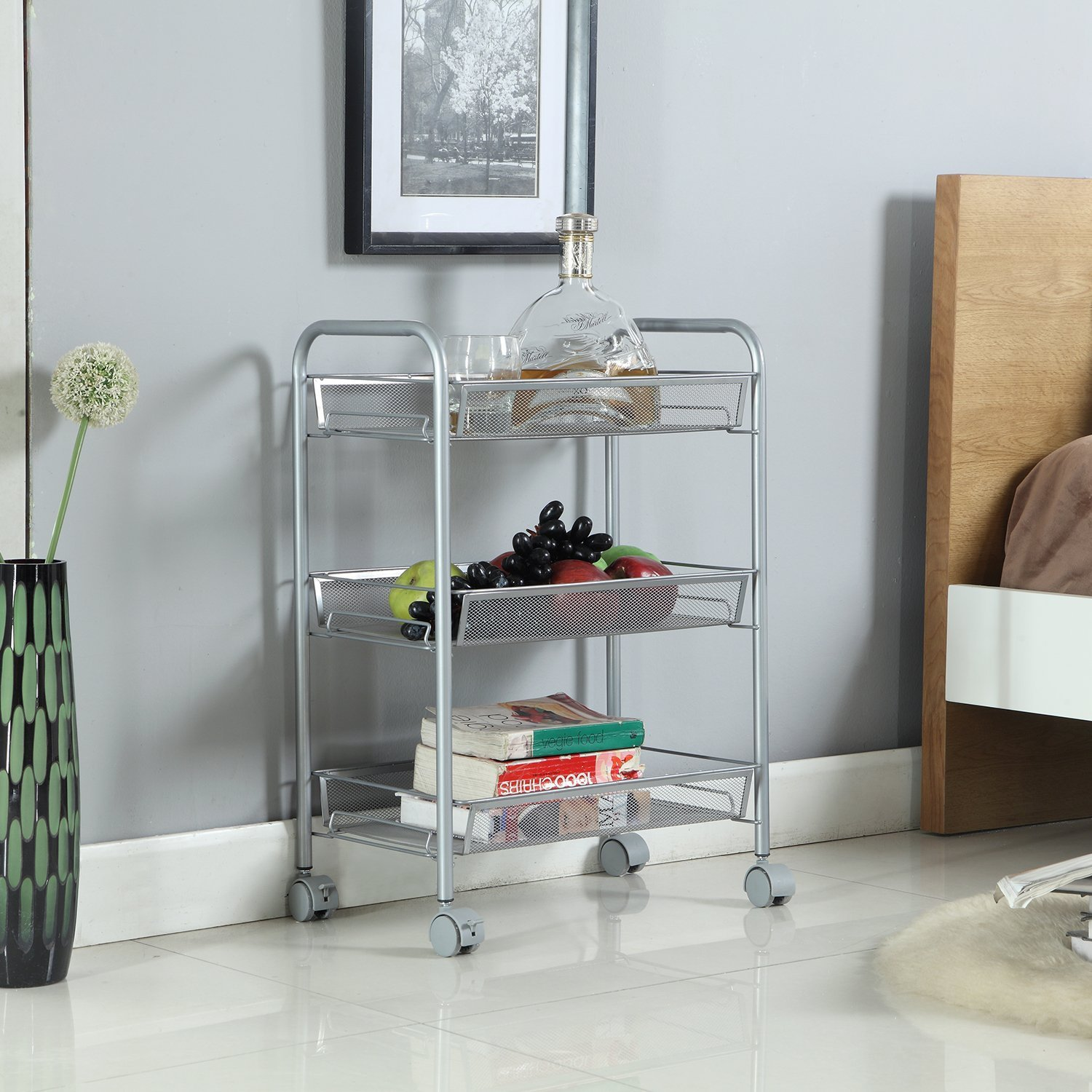 3-Tier Kitchen Carts on Wheels | Bathroom Shelving ...