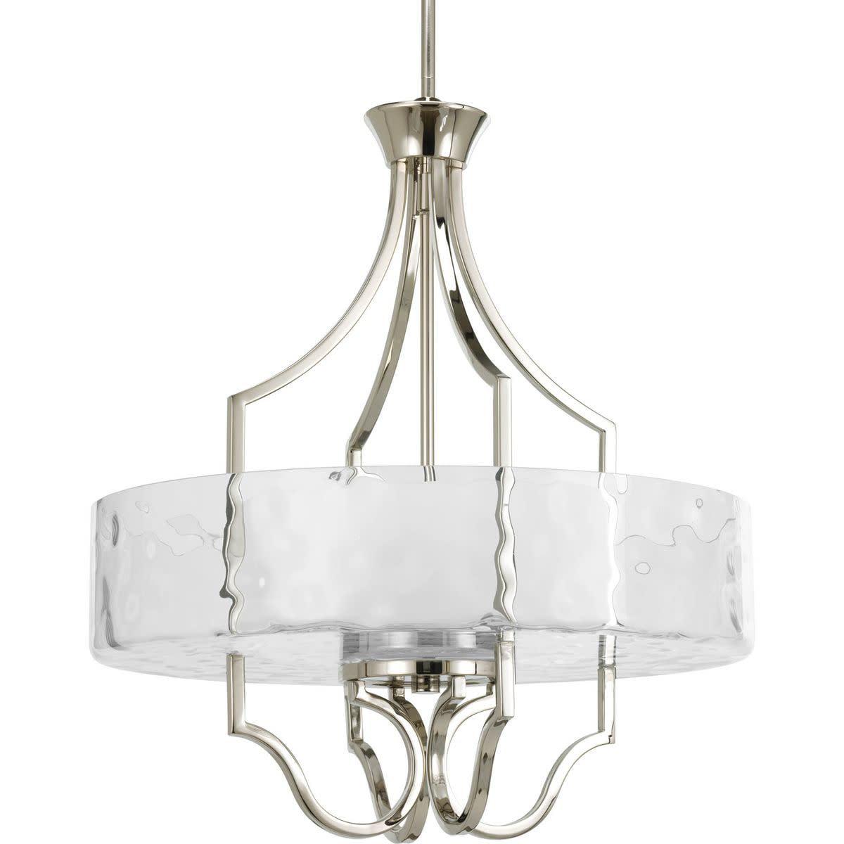 Caress Three-Light Inverted Pendant