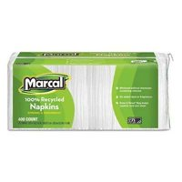 Marcal Small Steps Lunch Napkins, White, 400 Napkins