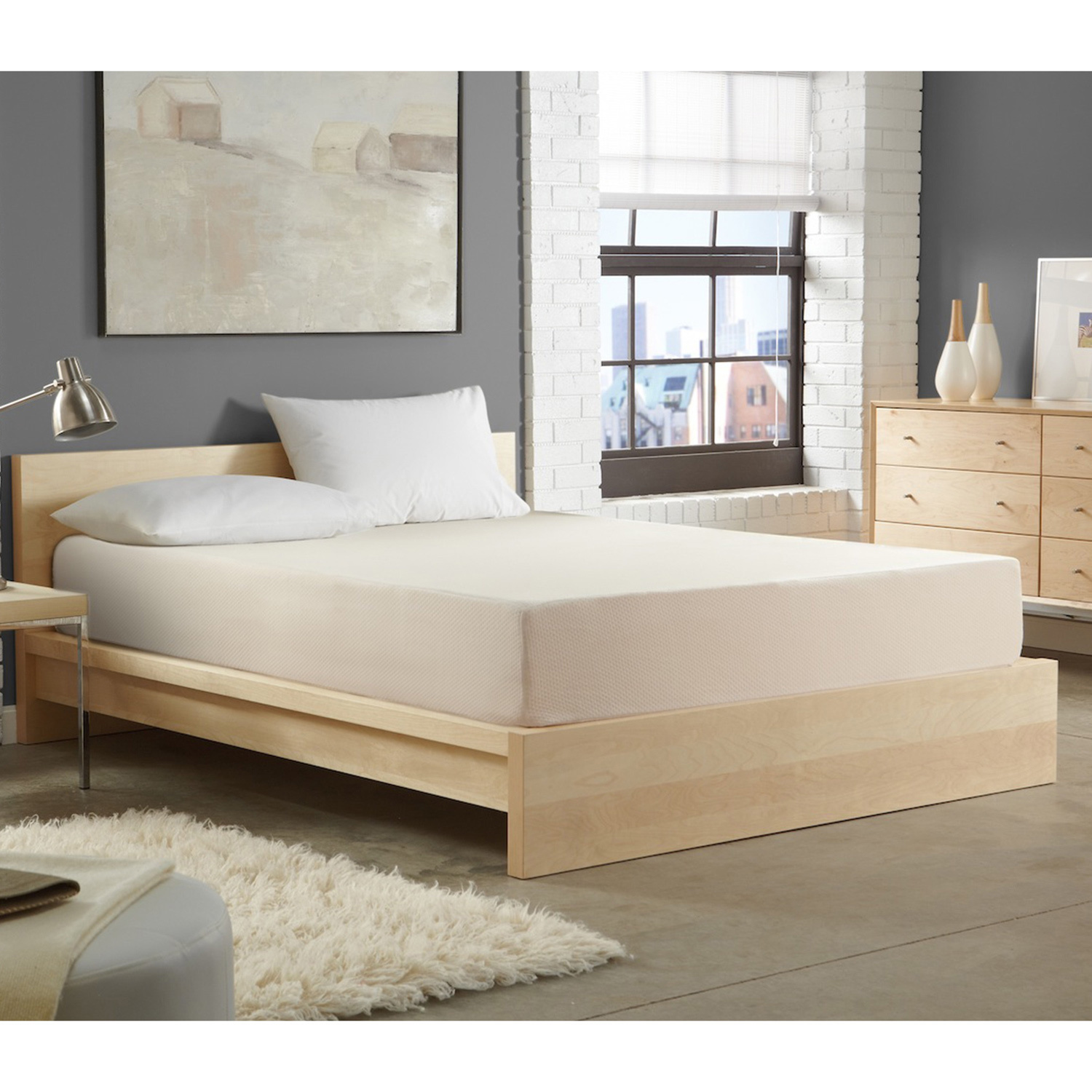 WHITE by Sarah Peyton Home Collection WHITE by Sarah Peyton 14-inch Convection Cooled Firm Support Cal King-size Memory Foam Mattress
