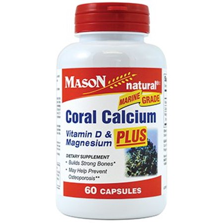 Mason Natural Coral Calcium 1500 mg Capsules 60 ea