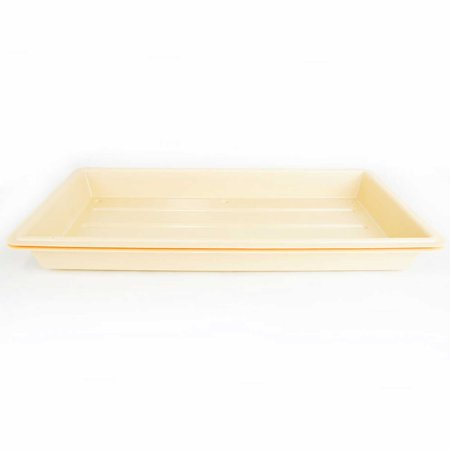 Quantity 1 - Perma-Nest Heavy Duty Plant Greenhouse Growing Tray - (Tan) No Drain Holes - Makes a Great Drip Tray - Perfect for Seed Starts, Microgreens, Wheatgrass,