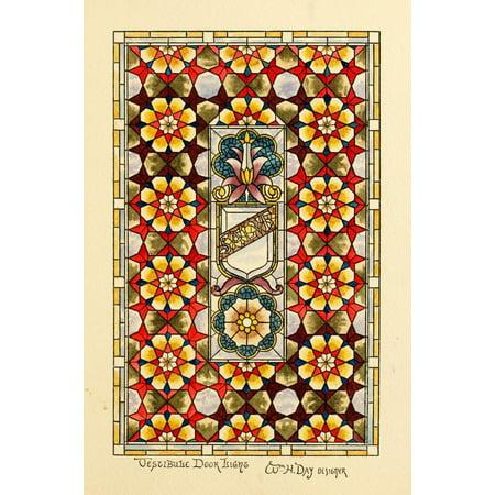 Image of Belcher Mosaic Glass 1886 5 Canvas Art - Wm H Day (18 x 24)