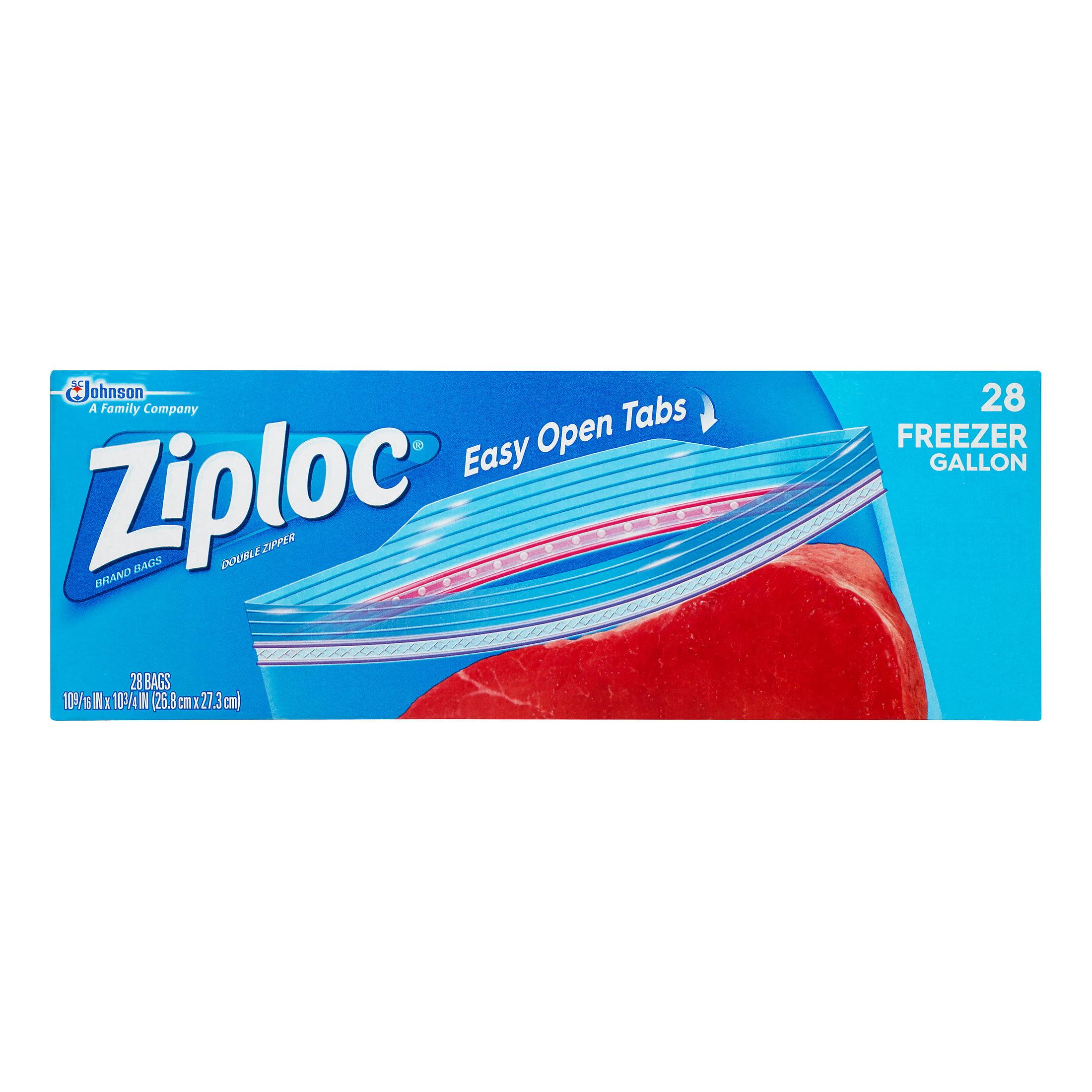 Ziploc Double Zipper Storage Bags, Gallon, 28 Ct