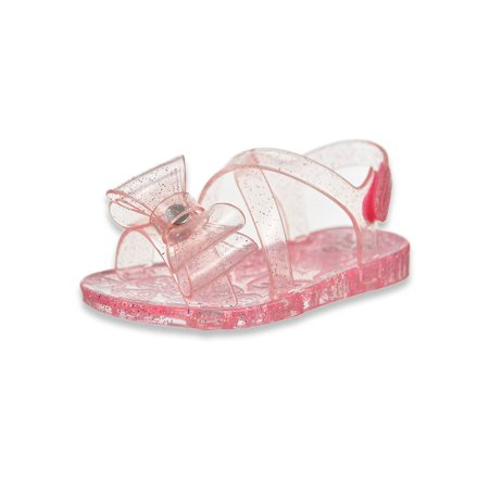First Steps by Stepping Stones First Walker Criss-Cross Bow Jelly Sandal (Infant Girls)