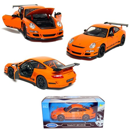 1/24 Scale Die-cast Collection: Porsche 911 (997) GT3 RS, Orange., 1/24 Scale Die-cast Metal By Welly