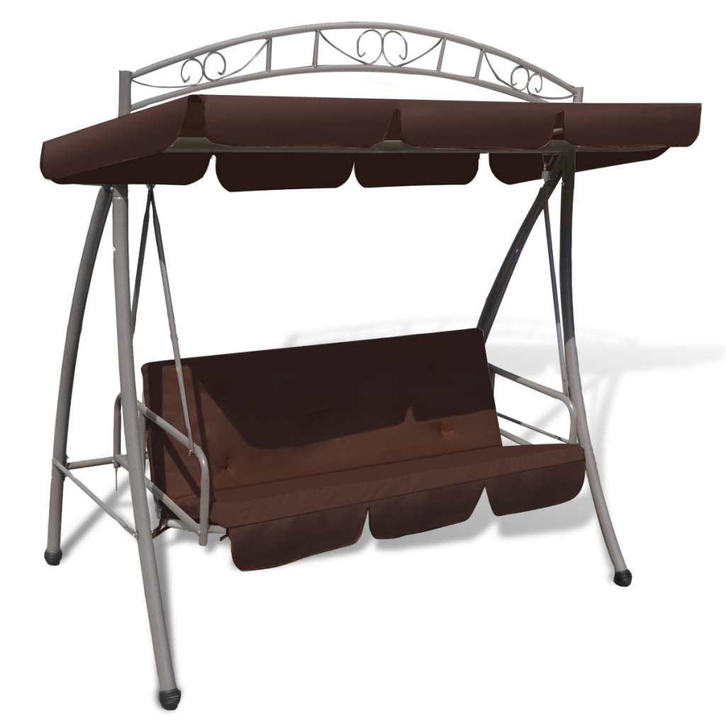 Outdoor Swing Chair / Bed Canopy Patterned Arch - Coffee