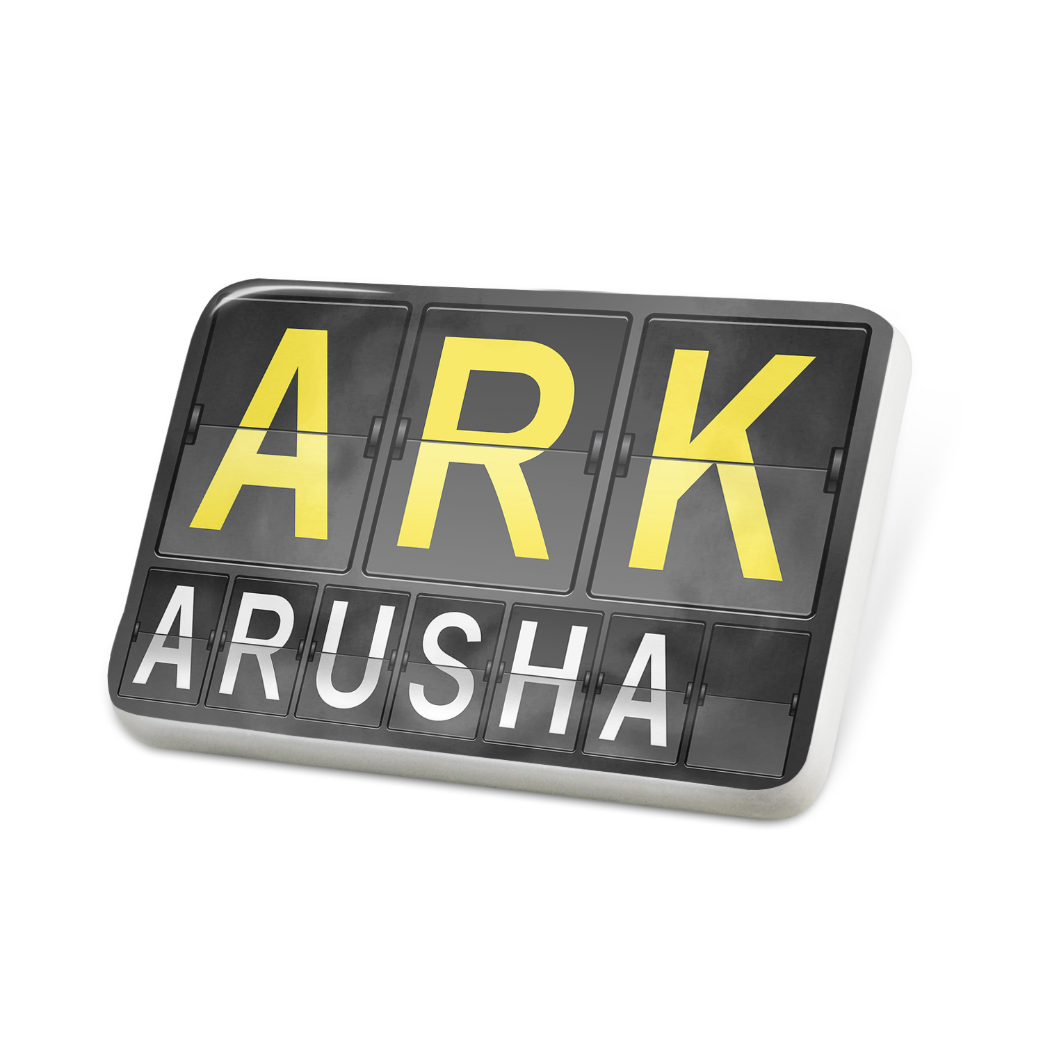 Porcelein Pin ARK Airport Code for Arusha Lapel Badge – NEONBLOND