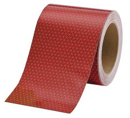 REFLEXITE 18714 Reflective Tape,W 6 In,Red