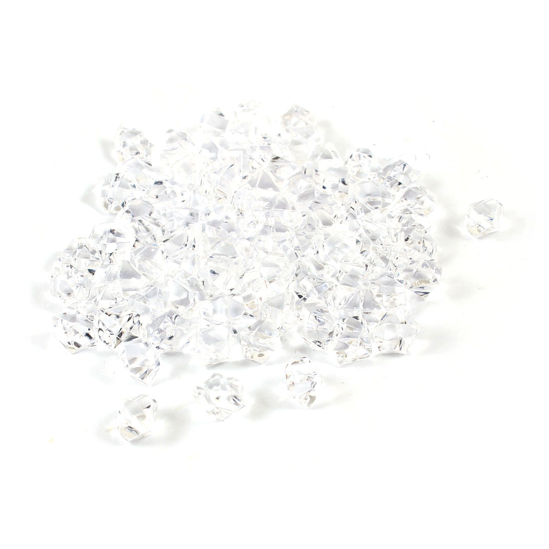 80 Pcs Clear Plastic Irregular Crystal Stone Aquarium Ornament by