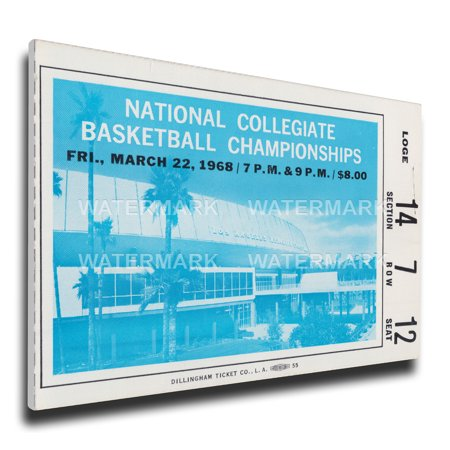 1968 Ncaa Basketball Finals Canvas Mega Ticket   Ucla Bruins