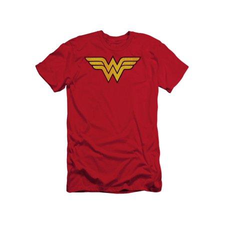 DC Comics Wonder Woman Logo Dist Adult Slim T-Shirt Tee Wonder Woman T-shirt