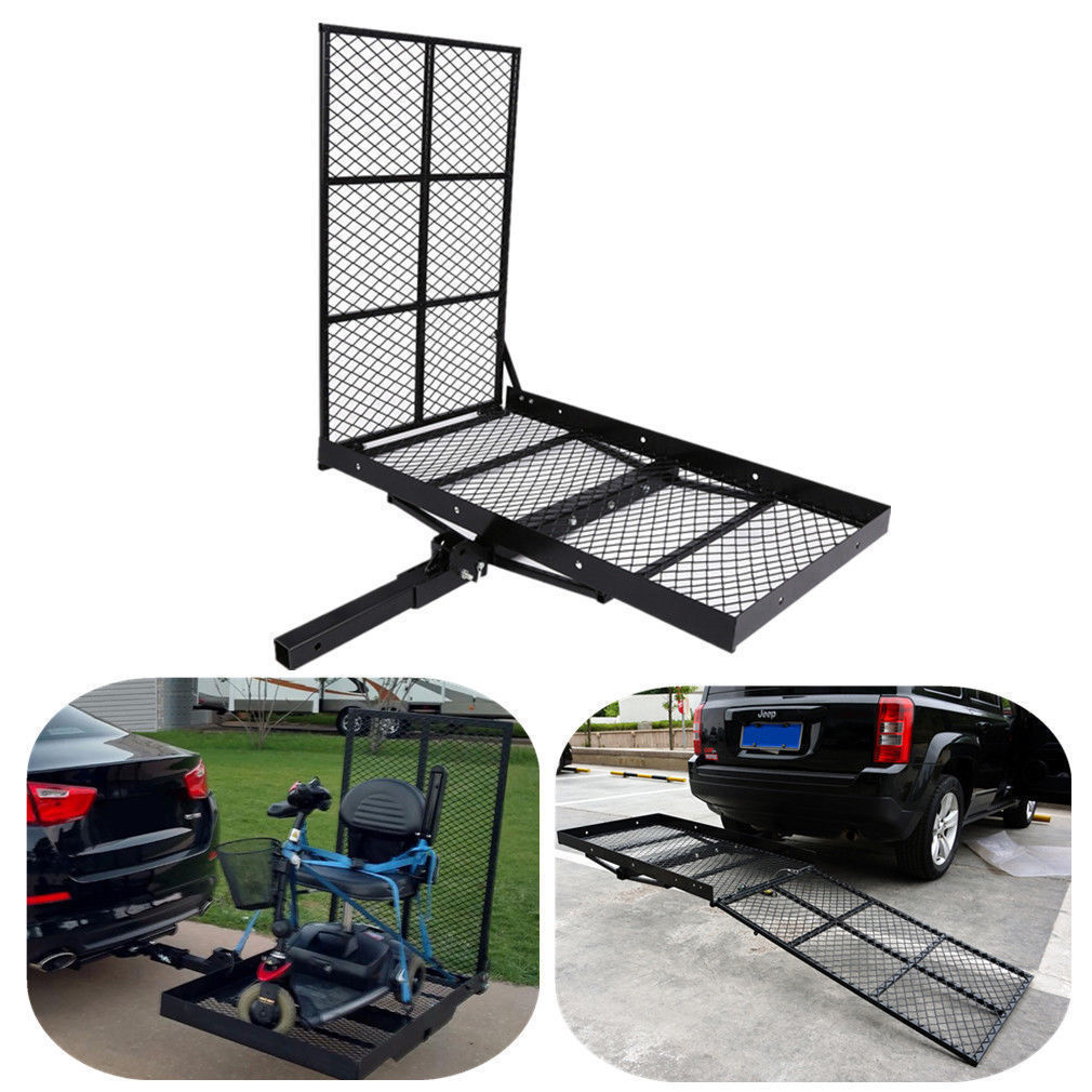 300kg Folding Strong Mobility Carrier Wheelchair Scooter Rack Disability Medical Loading Ramp Hitch Mount New