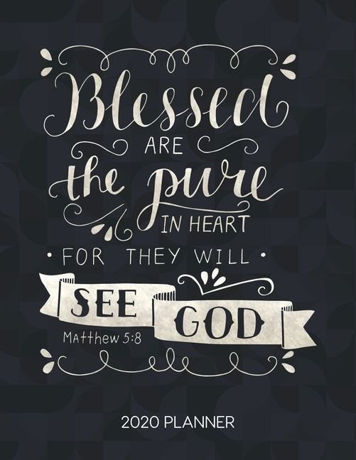 """BIBLE VERSE SCRIPTURE VINYL DECAL /""""BLESSED ARE THE PURE IN HEART/"""""""