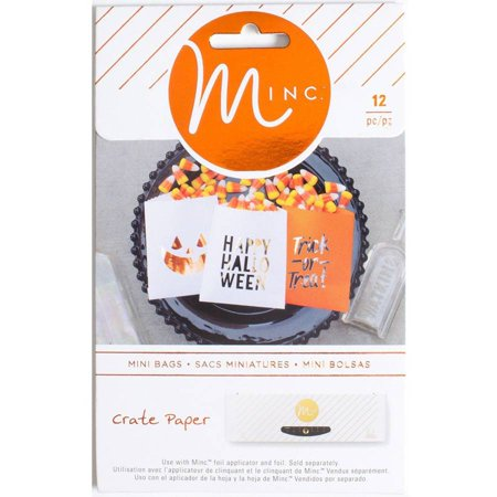Minc Halloween Treat Bags, 12pk, Crate Paper - Easy Halloween Crafts And Treats