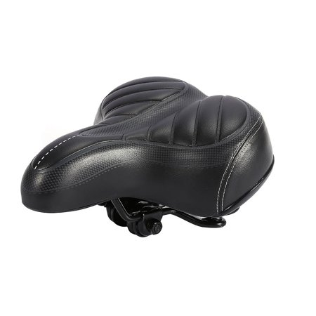 WALFRONT High Quality Comfort Wide Big Bum Mountain Road Bike Bicycle Sporty Soft Pad Saddle Seat Black,Bicycle Soft Pad - image 1 de 7