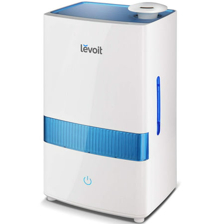 LEVOIT Cool Mist Humidifiers, 4.5L Ultrasonic Humidifier for Bedroom and Babies, Large-Capacity Vaporizer for Large Room, Whisper-Quiet, Auto Shutoff, Lasts up to 36 Hours, 2-Year