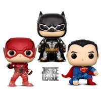 Warp Gadgets Bundle - Funko Pop Movies Dc Justice League – Batman, Flash (Sdcc 20118 Exclusive) and Superman - Collectible Vinyl Figure (3 Items)