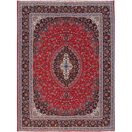 RugSelect Turkish Floral Oriental Area Rug Medallion Machine Made Wool 10x13 Red ()