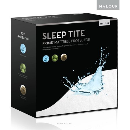 Sleep Tite PR1ME Waterproof Fitted Mattress Protector, Vinyl Free
