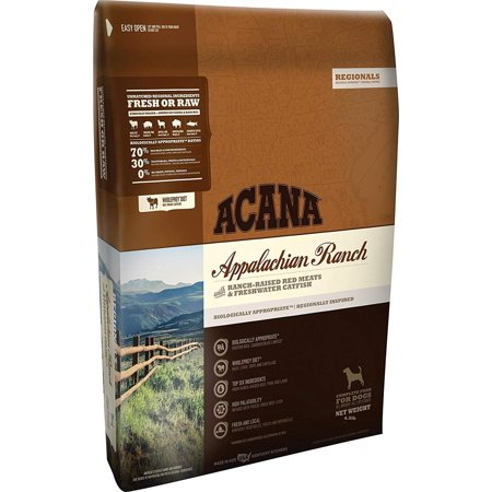 Regionals Appalachian Ranch for Dogs, 4.5 Pound Bag, Entirely free of plant protein concentrates, It is loaded with 70% meat ingredients By