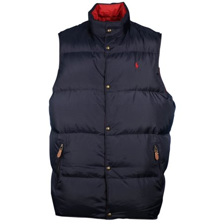 Polo Ralph Lauren Men's Big & Tall Reversible Down Puffer Vest-Aviator Navy/ Red - Walmart.com