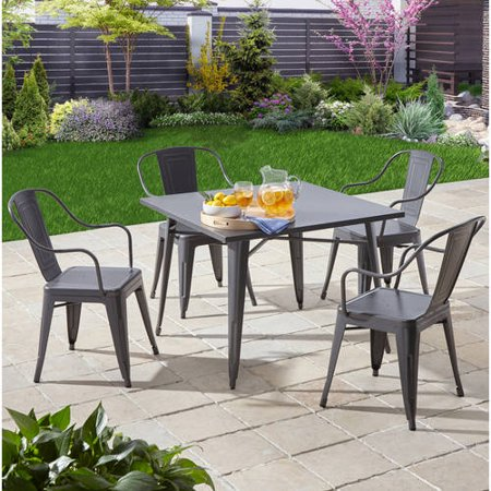 Better homes and gardens camrose farmhouse 5 piece dining - Better homes and gardens dining set ...