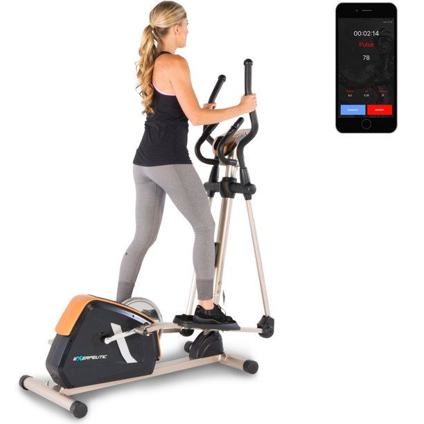 Exerpeutic GOLD 2000XLST Bluetooth Smart Technology Elliptical Trainer with Fitness Tracking App - Walmart.com - Walmart.com