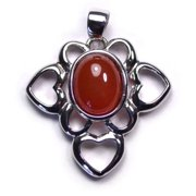 Merit 18164 925 Silver Ruby Pendent