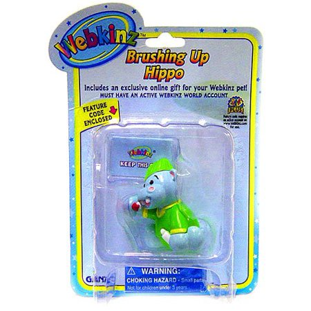 Go Minis Promo Code (Mini PVC Figure Brushing Up Hippo, Each figure comes with a Feature Code that will unlock a special figure that goes into your Webkinz pet?s.., By)
