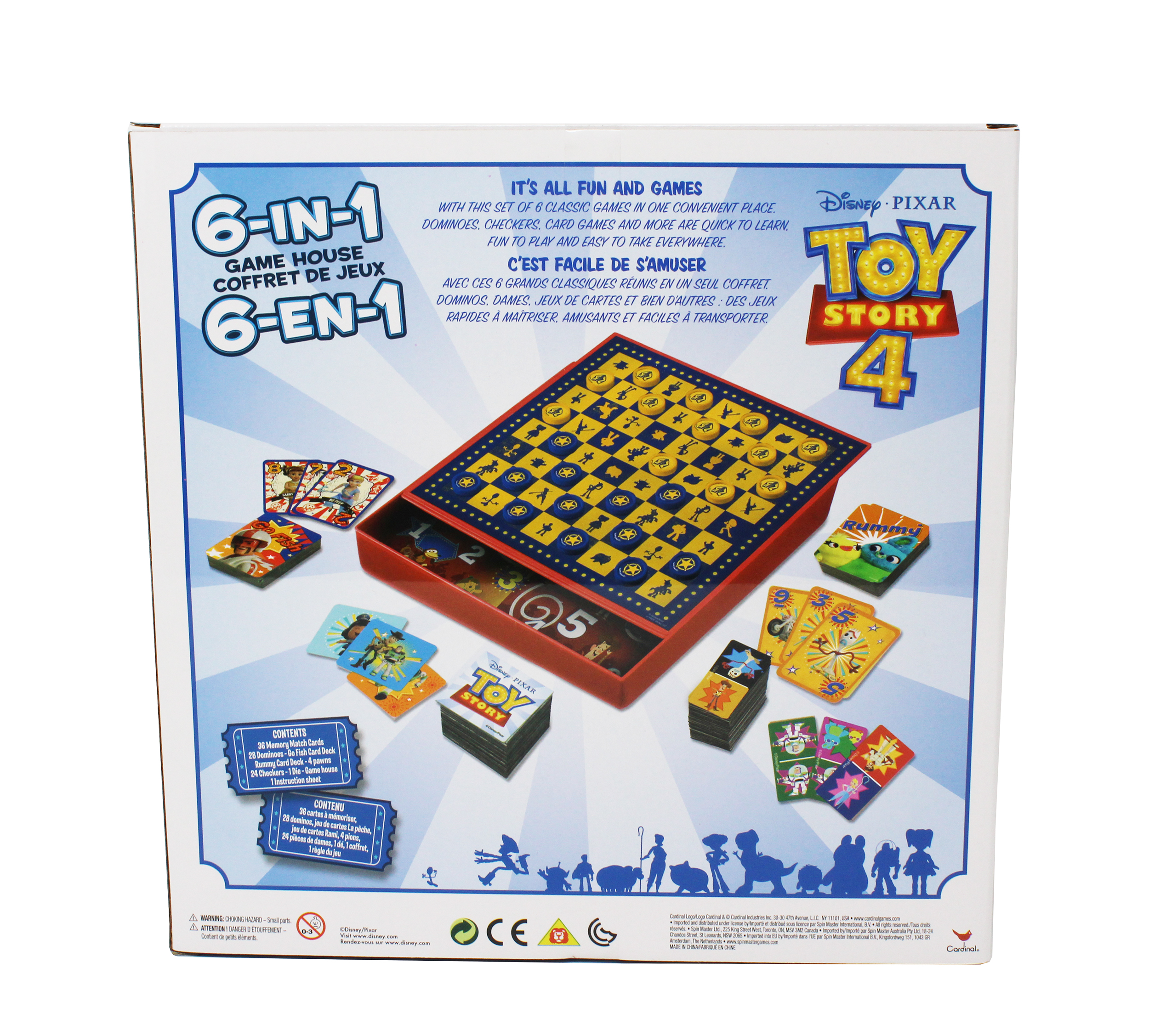 NEW Disney Pixar Cars 7 Game House Cabinet Checkers Bingo Dominos Playing Card's